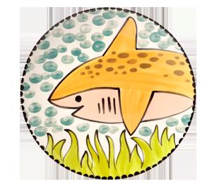 Alameda Happy Shark Plate